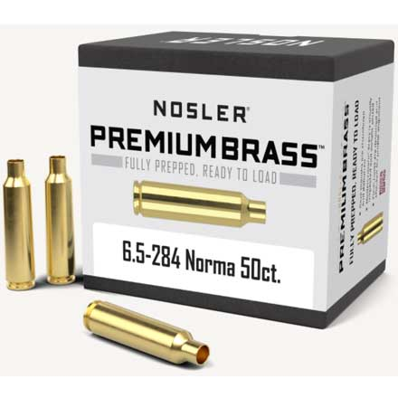 6.5-284 Norma Unprimed Rifle Brass 50 Count