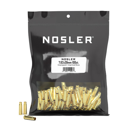 7.62x39 Bulk Un-Prepped Brass 100 Count