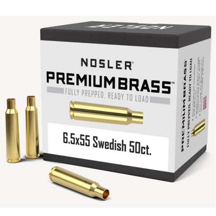 6.5x55 Swedish Mauser Unprimed Rifle Brass 50 Count