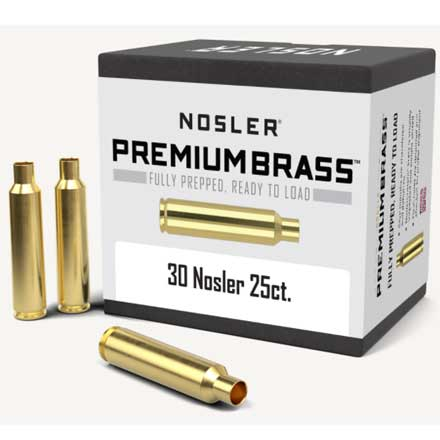 30 Nosler Unprimed Rifle Brass 25 Count