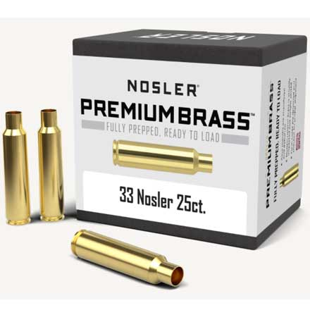 33 Nosler Unprimed Rifle Brass 25 Count