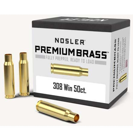 308 Winchester Unprimed Rifle Brass 50 Count