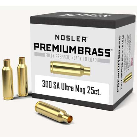 300 Remington SA  Ultra Mag Unprimed Rifle Brass 25 Count