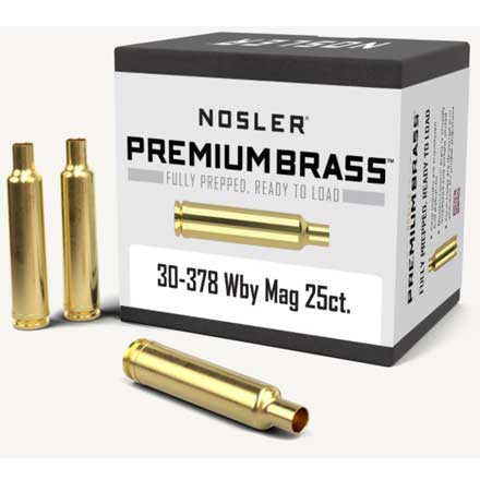 30-378 Weatherby Unprimed Rifle Brass 25 Count