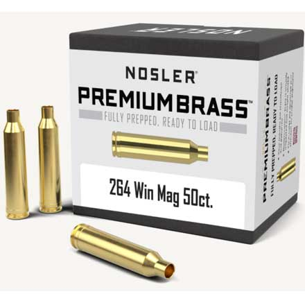 264 Winchester Mag Unprimed Rifle Brass 50 Count