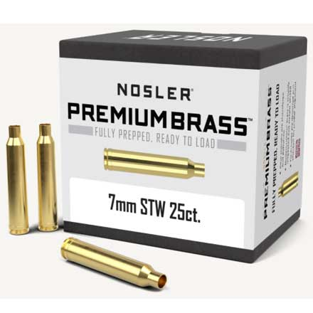 7mm STW Unprimed Rifle Brass 25 Count