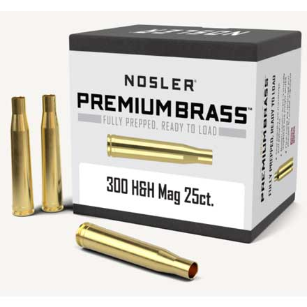 300 H&H Mag Unprimed Rifle Brass 25 Count