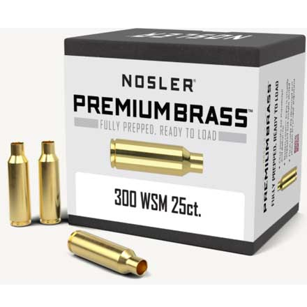 300 Winchester Short Mag Unprimed Rifle Brass 25 Count