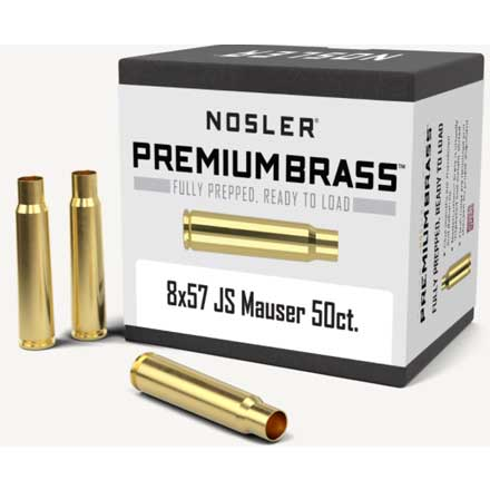 8x57 JS Mauser Unprimed Rifle Brass 50 Count