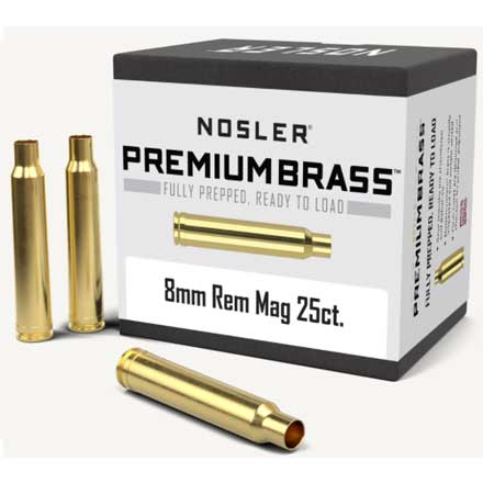 8mm Remington Mag Unprimed Rifle Brass 25 Count