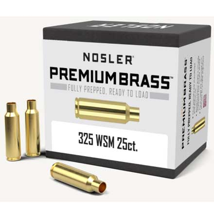 325 Winchester Short Mag Unprimed Rifle Brass 25 Count