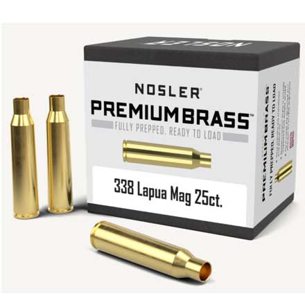 338 Lapua Mag Unprimed Rifle Brass 25 Count