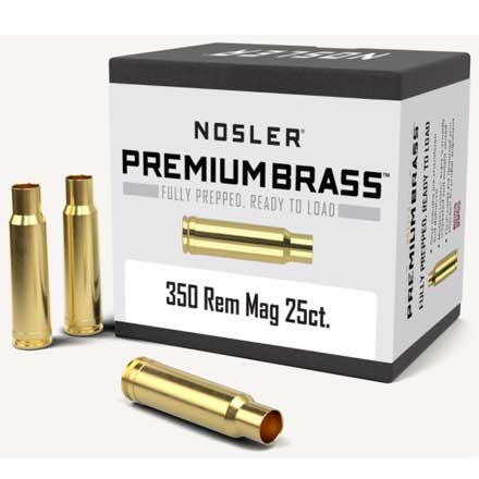 350 Remington Mag Unprimed Rifle Brass 25 Count