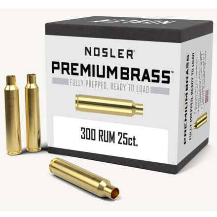 300 Remington Ultra Mag Unprimed Rifle Brass 25 Count