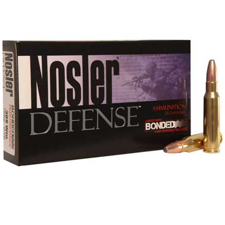 308 Winchester 168 Grain Bonded Solid Base 20 Rounds