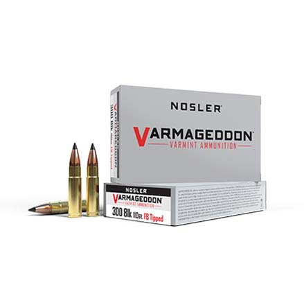 300 AAC Blackout 110 Grain Flat Base Tipped Varmageddon 20 Rounds