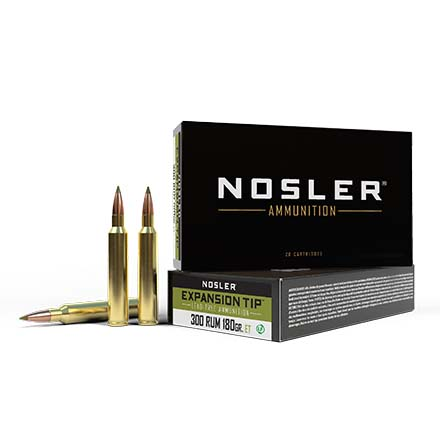 300 Remington Ultra Magnum 180 Grain E-Tip 20 Rounds