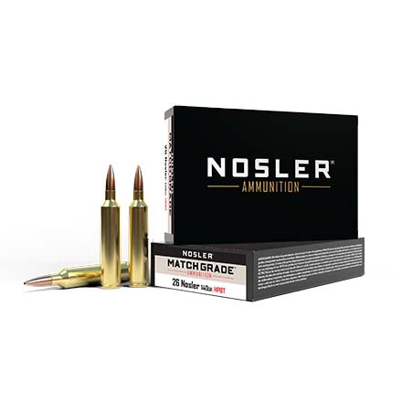 26 Nosler 140 Grain Custom Competition Match Grade 20 Rounds