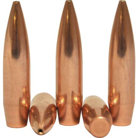6.5mm .264 Diameter 100 Grain Custom Competition Hollow Point Boat Tail 250 Count