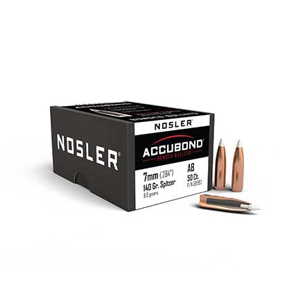 7mm .284 Diameter 140 Grain Spitzer Accubond 50 Count