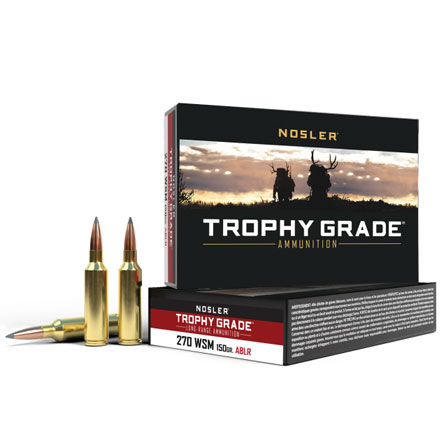 270 Winchester Short Mag (WSM) 150 Grain Long Range AccuBond 20 Rounds