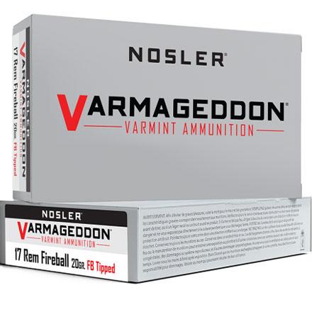 17 Remington Fireball 20 Grain Flat Base Tipped  Varmageddon 20 Rounds