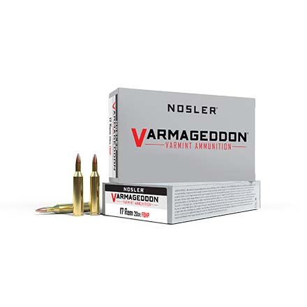 17 Remington 20 Grain Flat Base Hollow Point Varmageddon 20 Rounds