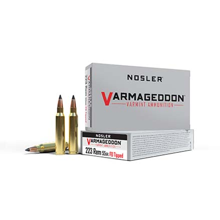 223 Remington 55 Grain Flat Base Tipped Varmageddon 20 Rounds