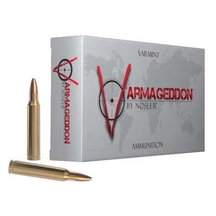 22-250 Remington 55 Grain Flat Base Hollow Point Varmageddon 20 Rounds