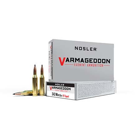 243 Winchester 55 Grain Flat Base Tipped Varmageddon 20 Rounds