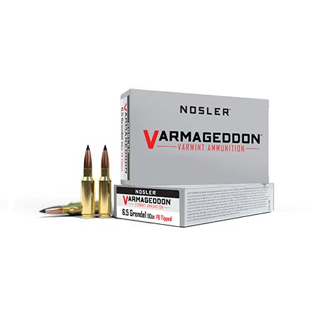 6.5mm Grendel 90 Grain Flat Base Varmageddon Tipped 20 Rounds