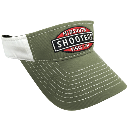 Image for Olive Drab Midsouth Shooters Visor With White Back