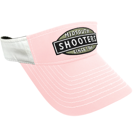 Pink Midsouth Shooters Visor With White Back