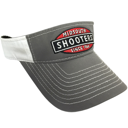 Charcoal Grey Midsouth Shooters Visor With White Back