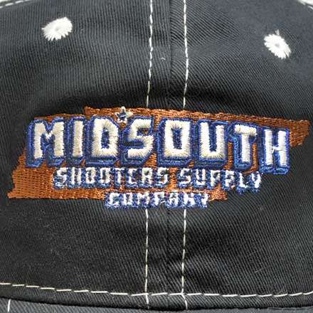 Navy Blue Midsouth Shooters Throwback Snapback Hat With Vintage White Mesh Back