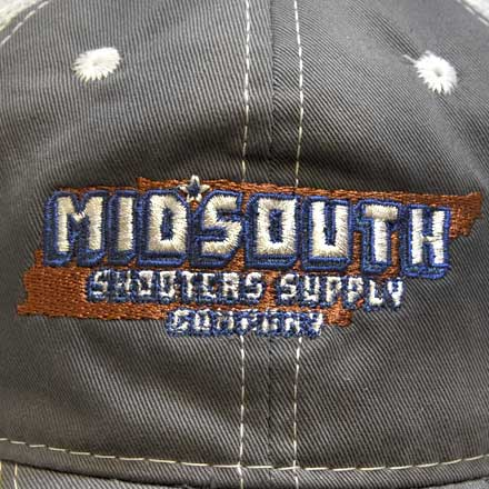 Charcoal Gray Midsouth Shooters Throwback Snapback Hat With Vintage White Mesh Back