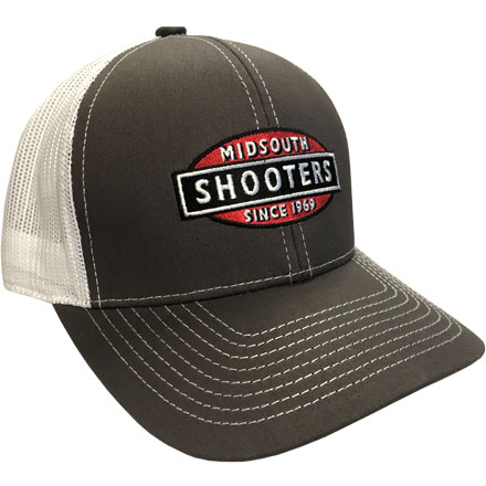 Charcoal and White Mesh Back Structured Midsouth Shooters Snapback Hat