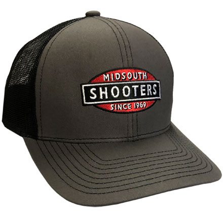 Charcoal and Black Mesh Back Structured Midsouth Shooters Snapback Hat