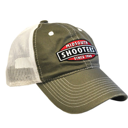 Olive Green Midsouth Shooters Hat With White Mesh Back
