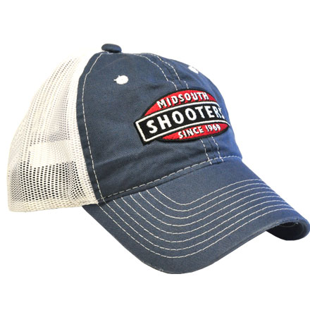 Faded Blue Midsouth Shooters Hat With White Mesh Back