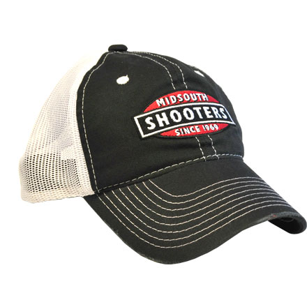 Black Midsouth Shooters Hat With White Mesh Back
