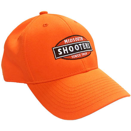 Blaze Orange Structured Midsouth Shooters Hat (With Color Midsouth Logo)
