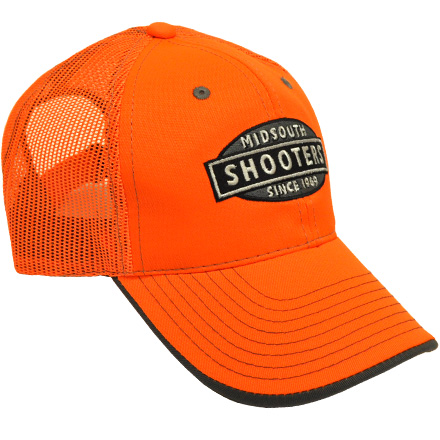 Blaze Orange Midsouth Shooters Hat With Mesh Back