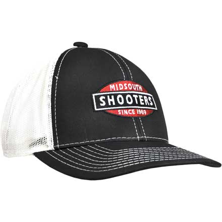 Black and White Mesh Back Structured Midsouth Shooters Snapback Hat