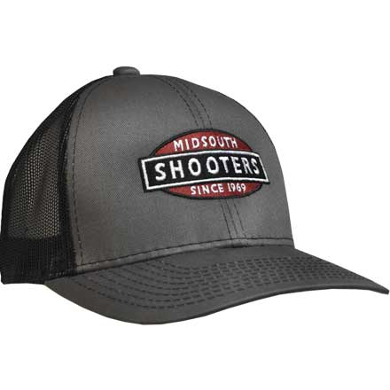 Charcoal and Black Mesh Back Structured Midsouth Shooters Snapback Hat 1f0017dbd806