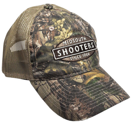 Realtree Xtra Camo Midsouth Shooters Hat With Tan Mesh Back (Slightly Distressed)