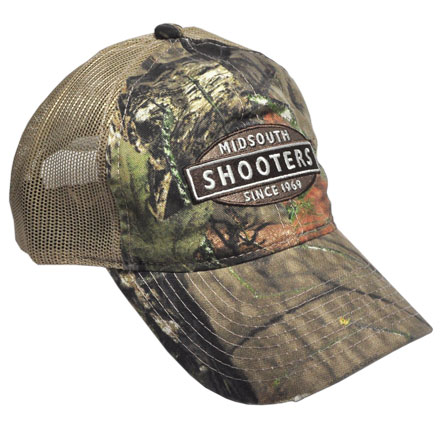 Mossy Oak Country Camo Midsouth Shooters Hat With Tan Mesh Back (Slightly Distressed)