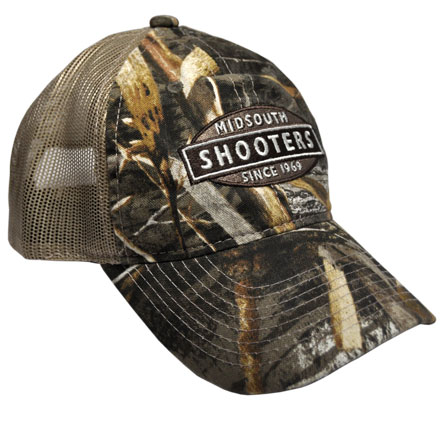 Realtree Max 5 Camo Midsouth Shooters Hat With Tan Mesh Back (Slightly Distressed)