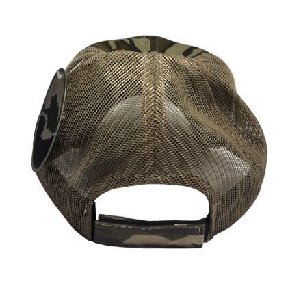 Original Bottomland Camo Midsouth Shooters Hat With Tan Mesh Back (Slightly Distressed)