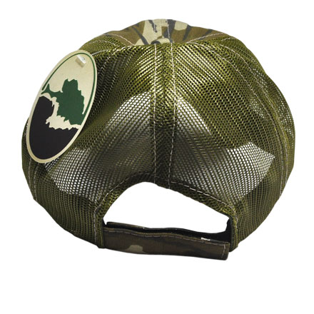 Original Bottomland Camo Midsouth Shooters Hat With Olive Mesh Back (Slightly Distressed)